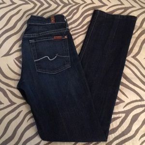 7 For All Mankind Straight Leg Jeans 28